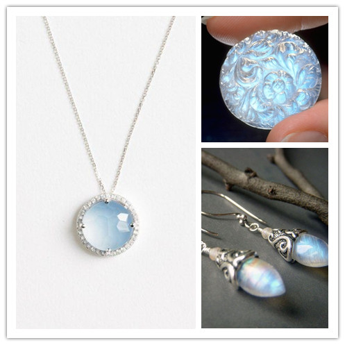 jewelry edwardian necklace jewellery moonstone pendant silver