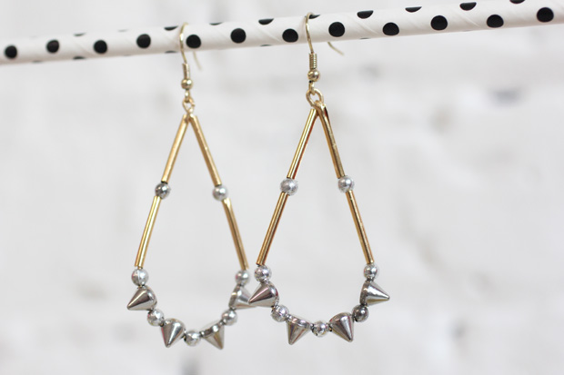 DIY punk style Teardrop Earrings