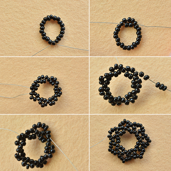Handmade Vintage Black Seed Bead Choker Necklace Carol's Crafts House Impressive Seed Bead Patterns